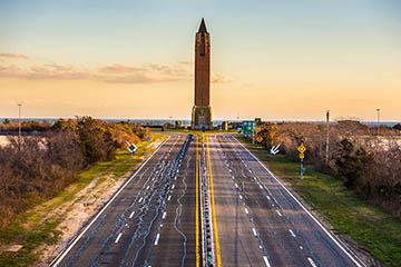 Highway leading to Jones Beach tower